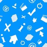 Teste padrão dos ícones da Web Imagem de Stock Royalty Free