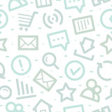 Teste padrão dos ícones do Internet Imagens de Stock Royalty Free