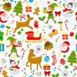 Teste padrão dos ícones do Natal Fotos de Stock