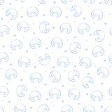 Teste padrão dos ícones dos croissant Fotografia de Stock Royalty Free