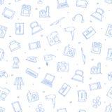 Teste padrão dos ícones dos dispositivos Fotos de Stock Royalty Free
