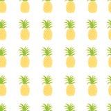 teste padrão dos abacaxis Foto de Stock