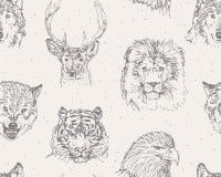 Teste padrão dos animais selvagens ilustração stock