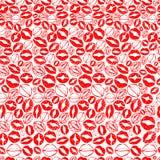 Teste padrão dos beijos para o dia do ` s do Valentim do St Fotos de Stock Royalty Free