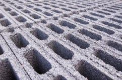 Teste padrão dos blocos de cimento Foto de Stock