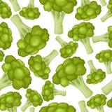 Teste padrão dos brócolis sem emenda ilustração stock