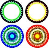 Teste padrão dos círculos Fotos de Stock Royalty Free