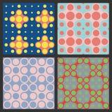 Teste padrão dos círculos coloridos Fotos de Stock