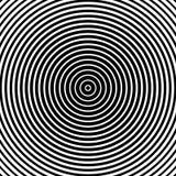 Teste padrão dos círculos concêntricos Illust monocromático-geométrico abstrato Foto de Stock