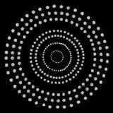 Teste padrão dos círculos de prata Fotografia de Stock