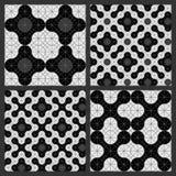 Teste padrão dos círculos preto e branco Fotografia de Stock Royalty Free