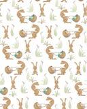 Teste padrão dos coelhos Foto de Stock