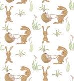 Teste padrão dos coelhos Fotografia de Stock Royalty Free