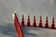 Teste padrão dos cones do tráfego Imagem de Stock Royalty Free