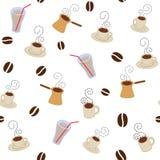 Teste padrão dos copos de café Fotografia de Stock Royalty Free