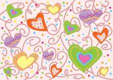 Teste padrão dos corações Imagens de Stock Royalty Free