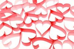 Teste padrão dos corações Fotografia de Stock Royalty Free