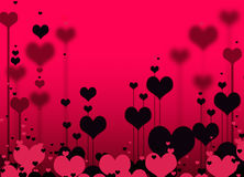 teste padrão dos corações Foto de Stock Royalty Free