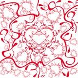 Teste padrão dos corações ilustração stock