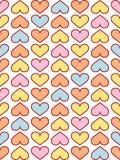 teste padrão dos corações Fotos de Stock Royalty Free