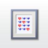 Teste padrão dos corações da aquarela Imagem de Stock Royalty Free