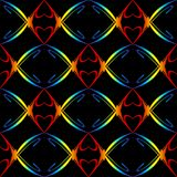 Teste padrão dos corações do arco-íris Imagens de Stock