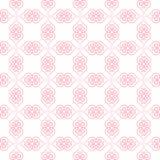 Teste padrão dos corações do Valentim Teste padrão sem emenda com linha corações Imagem de Stock