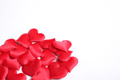 Teste padrão dos corações no branco Fotografia de Stock Royalty Free