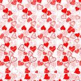 Teste padrão dos corações para o dia do ` s do Valentim do St Imagens de Stock
