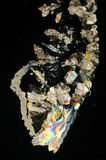 Teste padrão dos cristais do açúcar imagens de stock