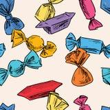 Teste padrão dos doces coloridos Foto de Stock
