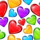 Teste padrão dos doces do coração ilustração do vetor