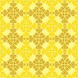 Teste padrão dos elementos do design floral Imagens de Stock Royalty Free