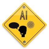 Teste padr?o dos elementos do fundo da intelig?ncia artificial, cartaz abstrato do neg?cio da qualidade super ilustração stock