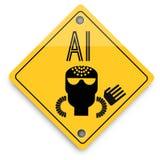 Teste padr?o dos elementos do fundo da intelig?ncia artificial, cartaz abstrato do neg?cio da qualidade super ilustração royalty free