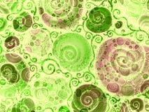 Teste padrão dos escudos das videiras da flor Foto de Stock