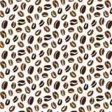Teste padrão dos feijões de café Imagens de Stock