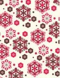 Teste padrão dos flocos de neve Imagens de Stock Royalty Free