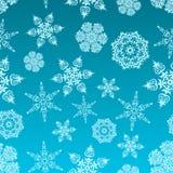 Teste padrão dos flocos de neve Ilustração Stock