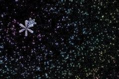 Teste padrão dos flocos de neve da estrela da abstração Fotos de Stock