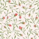 Teste padrão dos galhos das rosas Fotos de Stock Royalty Free