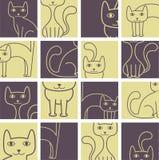 Teste padrão dos gatos Imagens de Stock