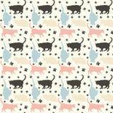 Teste padrão dos gatos Imagem de Stock Royalty Free
