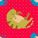 Teste padrão dos gatos Fotografia de Stock Royalty Free