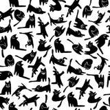 Teste padrão dos gatos pretos Fotos de Stock