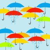 Teste padrão dos guarda-chuvas Imagens de Stock Royalty Free