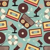 Teste padrão dos instrumentos musicais Fotografia de Stock Royalty Free