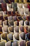 Exposição dos lampshades Fotografia de Stock