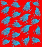 Teste padrão dos pássaros Imagem de Stock