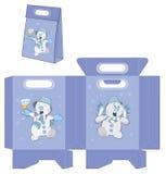 Teste padrão dos pacotes das bolsas da bola de neve do Natal Imagens de Stock Royalty Free